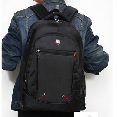 Men Black Backpack Waterproof Bookbag Pack 15.6 Inch Laptop Bag Women Rucksack