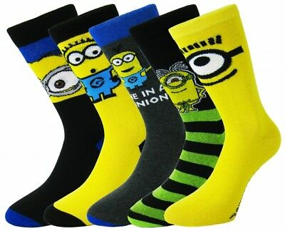 """New Adults Men's Boys Despicable Me """"Minions"""" Character Ankle Socks UK Size 6-11"""