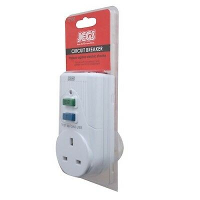Circuit Breaker RCD UK Plug In Safety Adaptor Electrical Power Garden Tools LED