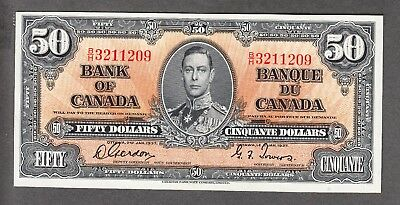 1937 Bank of Canada - $50 Bank Note - Uncirculated - Gordon Towers B/H 3211209