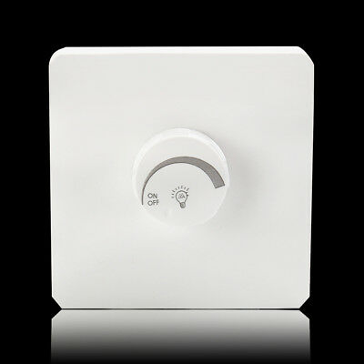 LED Dimmer Light switch 400w Turn On Off for Lighting Circuits White Plastic New