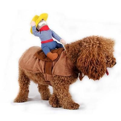 Funny Pet Costume Dog Riding Horse Rodeo Cowboy Large & XL Dogs Party Clothes