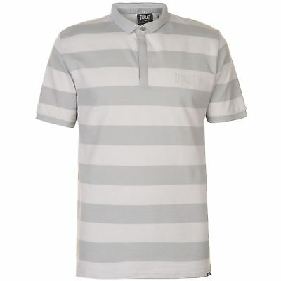931620a72bb Everlast Stripe Polo Shirt Mens Gents Classic Fit Tee Top Short Sleeve  Cotton