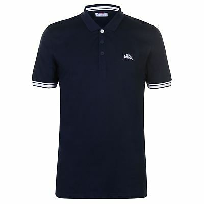 Lonsdale Jersey Polo Shirt Mens Gents Classic Fit Tee Top Short Sleeve Button