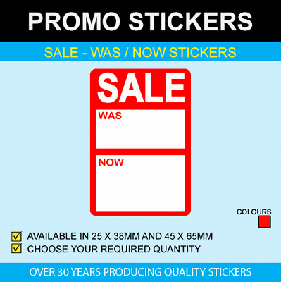 Sale Was / Now Stickers - Available In 3 Sizes