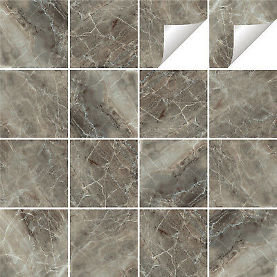 Tile Stickers Transfers Marble Kitchen Bathroom Various Sizes & Custom Size - M4