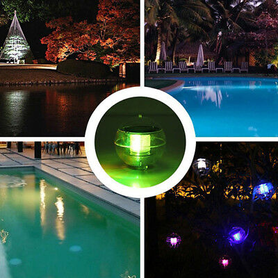 Solar Power Floating Rotate Waterproof LED Light Ball Pond Pool Path Lands Lamps