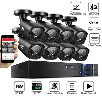 Home Security Camera System CCTV 4 Channel Outdoor Indoor HD 1080P Office Kit