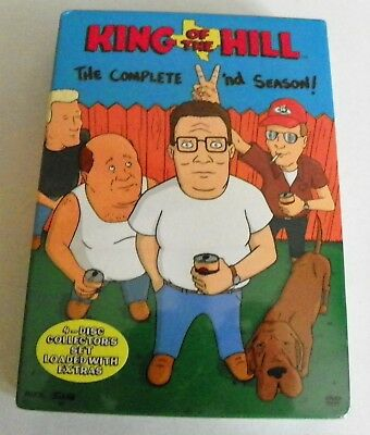 New Sealed 2003 Dvd King Of The Hill 2Nd Season Region 1 Full Frame 4 Discs