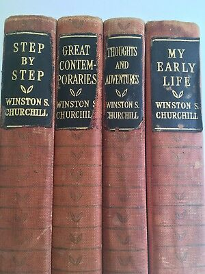 WINSTON CHURCHILL book COLLECTION,  four book collection by Winston Churchill