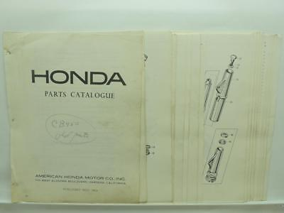 Nov 1966 Honda CB450 Black Bomber Parts Catalog L13429