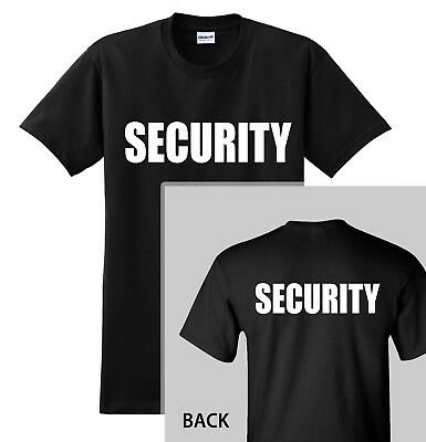 SECURITY T-SHIRT Event Bouncer Staff Guard Police Shirt Tee up to 5X in 7 Colors