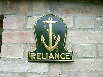A Genuine Reliance Marine Assurance Fire Mark in Excellent Condition.