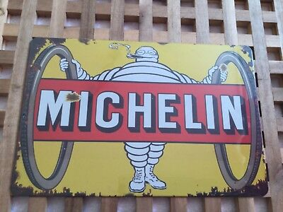 Vintage Retro Style Metal Tin Signs Poster Michelin Double Tyre Cave Wall Home