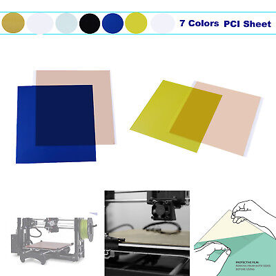 0.3/0.5/0.8/1.0mm PEI Sheet Build Surface w/ 468MP Adhesive Tape for 3D Printer