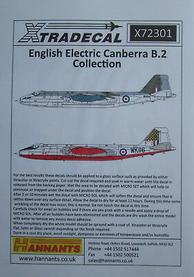 NEW 1:72 Xtradecal X72301 BAC//EE Canberra B.2