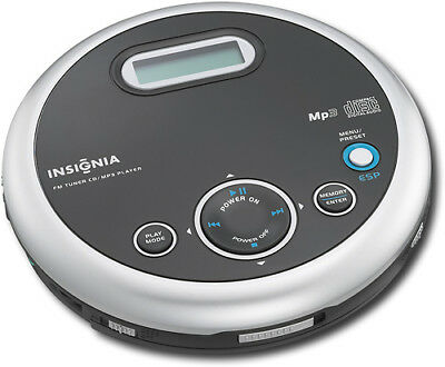 Insignia- Portable CD Player with FM Tuner and MP3 Playback - Black
