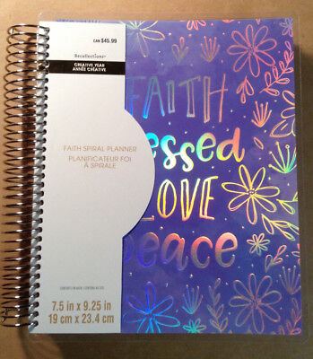 "NEW! 2018-2019 Creative Year ""FAITH"" Planner by Recollections VERTICAL UNDATED"