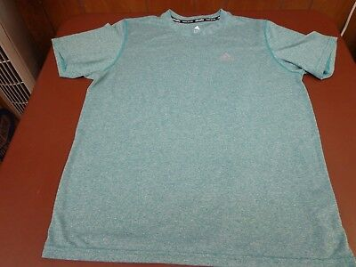 ADIDAS CLIMALITE  Athletic T-Shirt Short Sleeve Green  Large Tee   Y1