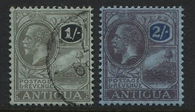 Antigua 1921 KGV 1/ and 2/ used