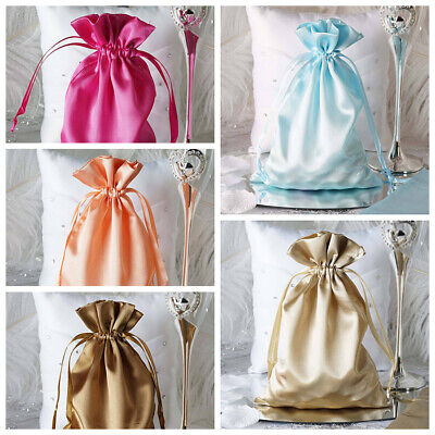 "6x9"" SATIN BAGS with Pull String Wedding Party Gift Favors Pouches Wholesale"