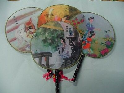 1 Brand New Round Chinese Hand Fan , Oriental Fan , Only $1.00 , Wedding Favors