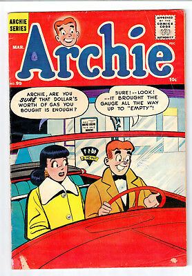 Archie #99 1959 MLJ VG 4.0 OFF-WHITE To WHITE Pages : Veronica Car Date Cover :
