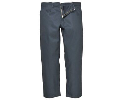 Portwest Biz3 Navy Blue Flame Fire Retardant Trousers Welding Work Bizweld Pant