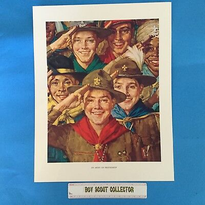 "Boy Scout Norman Rockwell Print 11""x14"" An Army Of Friendship"