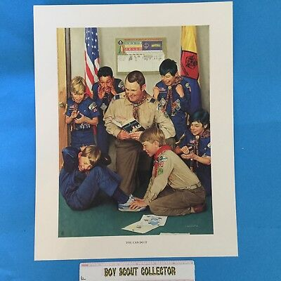 "Boy Scout Joseph Csatari Print 11""x14"" You Can Do It"