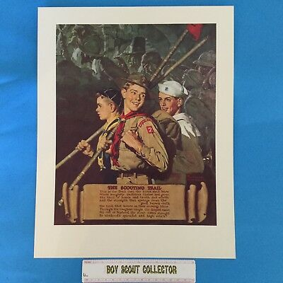"""Boy Scout Norman Rockwell Print 11""""x14"""" The Scouting Trail"""