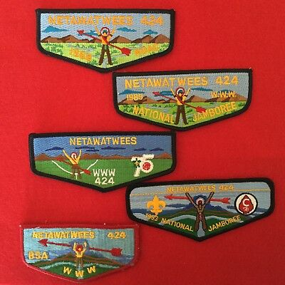 Boy Scout OA Netawatwee Lodge 424 5 Order Of The Arrow Pocket Flap Patches