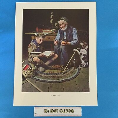 "Boy Scout Norman Rockwell Print 11""x14"" A Good Turn"