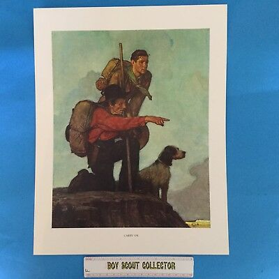 "Boy Scout Norman Rockwell Print 11""x14"" Carry On"