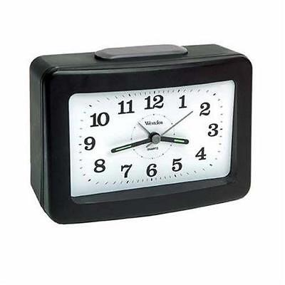 Westclox Analog Quartz Loud Bell Black Alarm Clock 47550