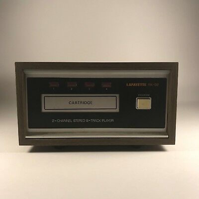 Lafayette RK-92 8-Track Tape Deck Player TESTED