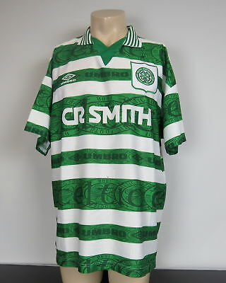 Rare Celtic 1995-97 home shirt UMBRO soccer jersey size XL