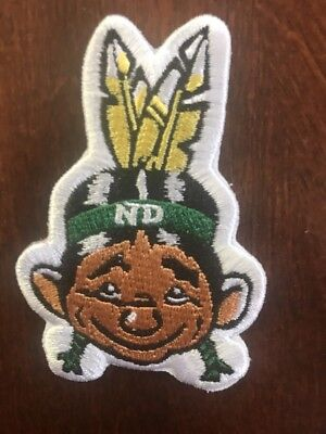 "Und University of North Dakota Fighting Sioux  ""Sammy Embroidered iron on patch"