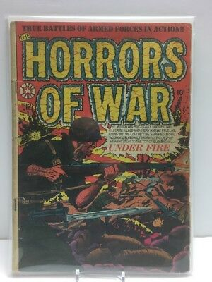 Horrors Of War #12 Cole Cover In POP Star Comics 1953 (low grade FR/GD) RARE!!