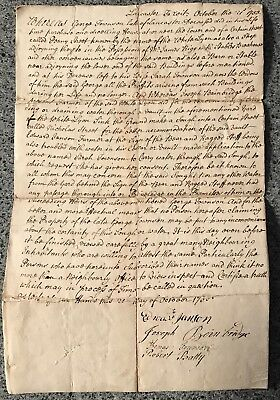 1755 document done at Lancaster to wit by George Townson, signed Edward Janson