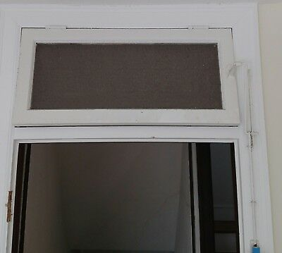 Antique Interior Above Door Transom Window Privacy glass with Hardware Open Rod & ANTIQUE INTERIOR ABOVE Door Transom Window Privacy glass with ...