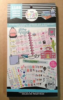 "NEW! me & my big ideas ""STUDENT ICONS"" Value Pack Stickers - 1188 Pieces"
