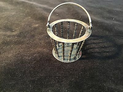"Sterling silver cont. hallmarked bucket 1"" dollhouse miniature"