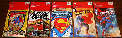 2013 Superman 75th Anniversary set 5 Stamp Booklets (50 Stamps)