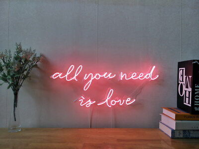New All You Need Is Love Neon Sign For Bedroom Wall Decor Artwork With Dimmer