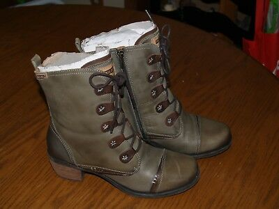 c27322dc4503 RARE~WOMEN PIKOLINOS LE MANS Laurel Green~Leather~Boots~838-9232~SZ ...