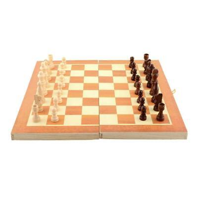 Quality Classic Wooden International Chess Set Board Game Foldable Travel Gift