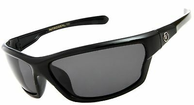 c1d87ffa3b7 Nitrogen Men s Rectangular Sports Wrap 65mm Polarized Sunglasses Black New