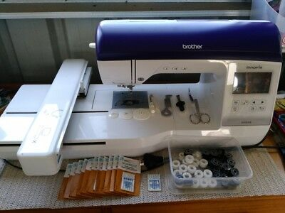 Brother Innovis 800E embroidery machine with software and tons of extras