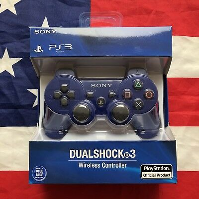 BLUE Sony Dualshock 3 Controller Wireless Sixaxis PlayStation PS3 Gamepad